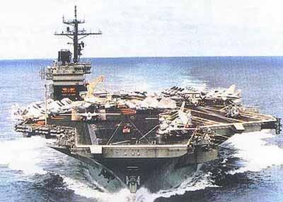 """""""艾森豪威尔""""号核动力航母图片"""