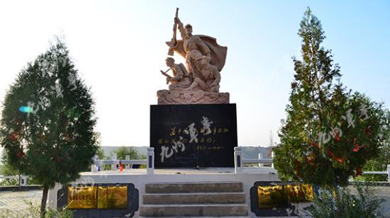虎豹口纪念雕塑